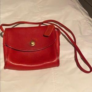 Coach red vintage crossbody bag